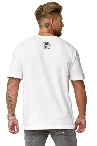 Heren poloshirt met korte mouwen en t-shirt print polo korte mouw KOK06
