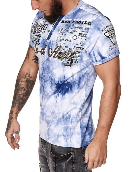 OneRedox Herren T-Shirt Kurzarm Rundhals Cote d Azur Tee Modell 3559
