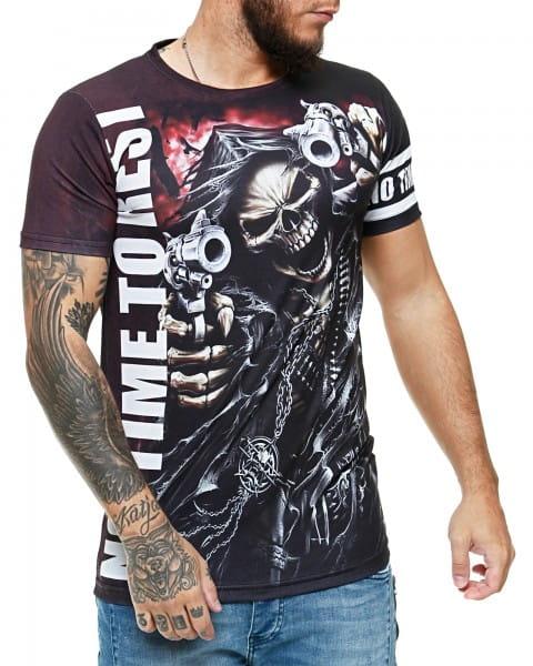 Herren T-Shirt Kurzarm Rundhals No Time To Rest Modell 1482