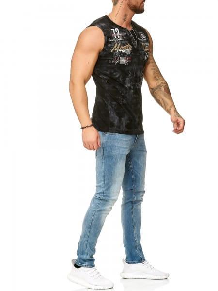 Herren T-Shirt Poloshirt Shirt Kurzarm Printshirt Polo Kurzarm 4395C