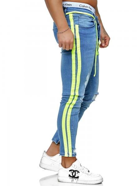 Pantalon en jean pour hommes Coupe étroite pour hommes Jeans skinny ko3008j-bg-st