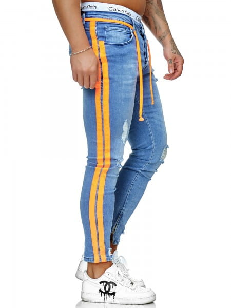 Heren Jeans Broek Slim Fit Heren Mager Denim Designer Jeans ko3008j-bo-st