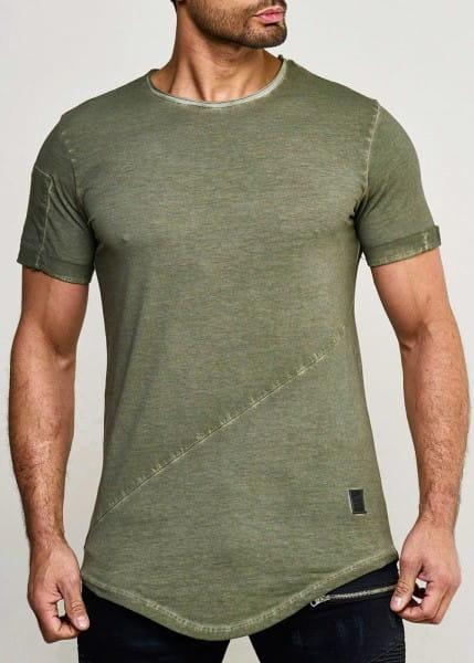 Heren poloshirt met T-shirt, korte mouw print polo korte mouw 9042C