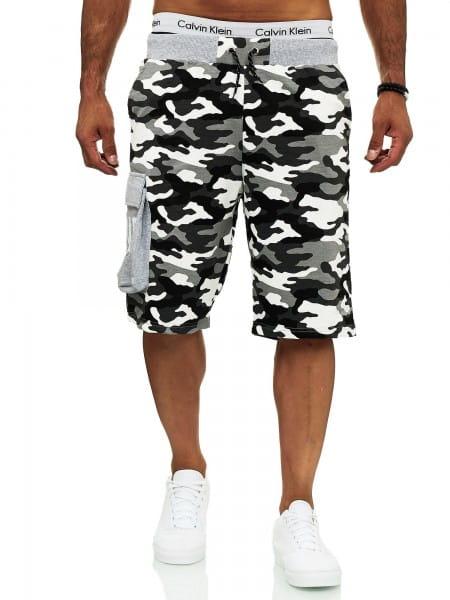 Herren Shorts Bermuda Cargoshorts Camouglage Design Clubwear Modell 12141