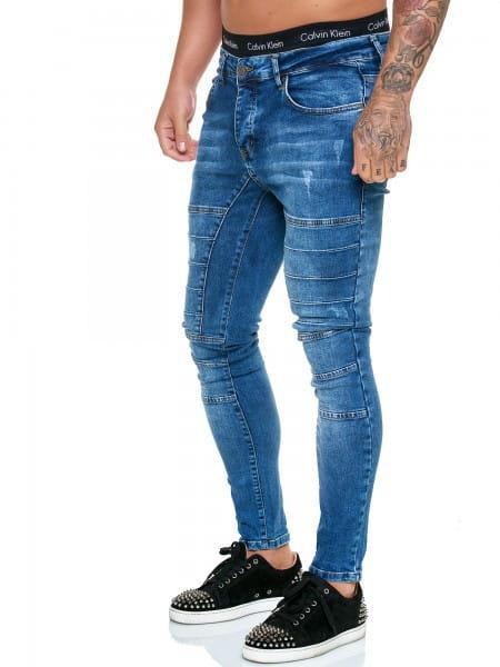 OneRedox Designer Jeans Pantalon Jeans Homme Pantalon Jeans Regular Skinny Fit Pantalon Jeans Basic Stretch Model j-8010