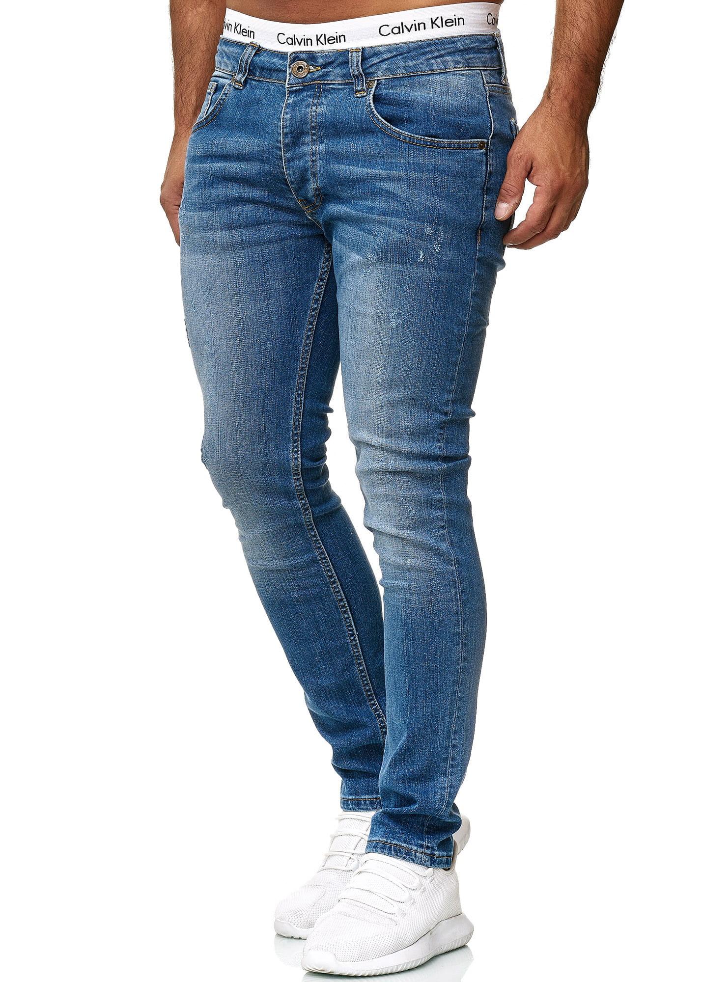 Herren Jeans Hose Slim Fit Männer Skinny Denim
