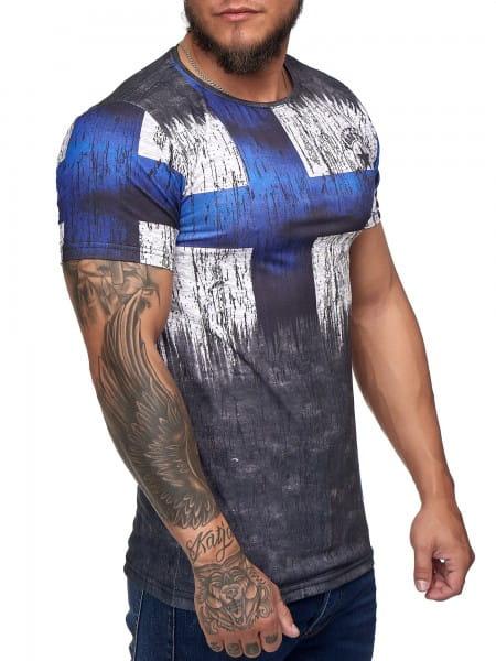 Heren T-Shirt Poloshirt Korte mouw Printshirt Poloshirt Korte mouw shirt-countr