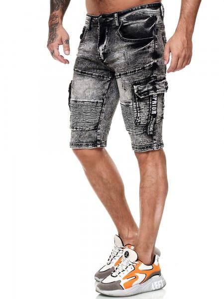 Herren Shorts Bermuda Jeansshorts Destroyed Wash Clubwear Modell E7526