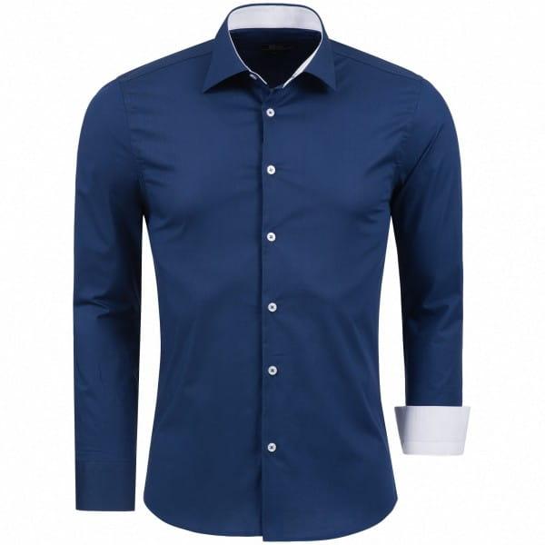 Heren Shirt Katoen Lange Mouwen Shirt Slim Fit Casual Shirt Easy Care 1122