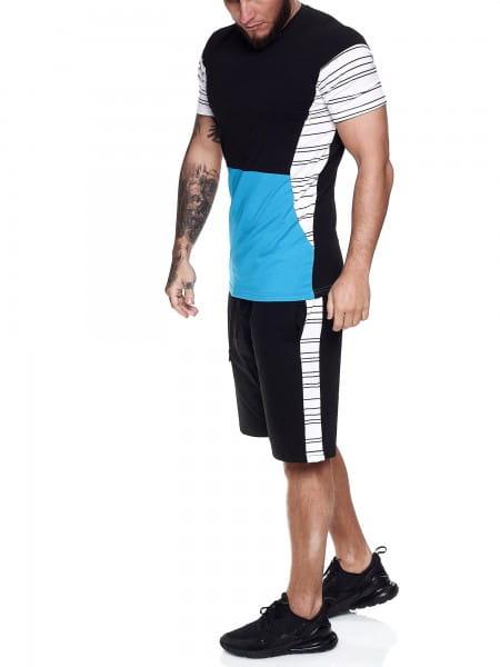Combinaison courte pour hommes Combinaison courte de sport T-shirt court Modèle 1461