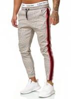 OneRedox Hommes   Pantalon de survêtement   Pantalon de survêtement   Pantalon de survêtement   Sport Fitness   Gym   Entraînement   Slim Fit   Sweatpants Stripes   Pantalon de survêtement   Modèle 1226