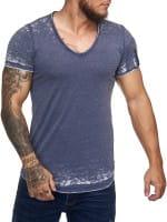 Herren T-Shirt Poloshirt Shirt Kurzarm Printshirt Polo Kurzarm KODI1376C
