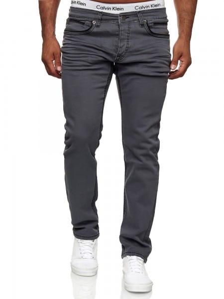 OneRedox Designer Herren Jeans Cargohose Regular Skinny Fit Jeanshose Destroyed Stretch Modell 5168
