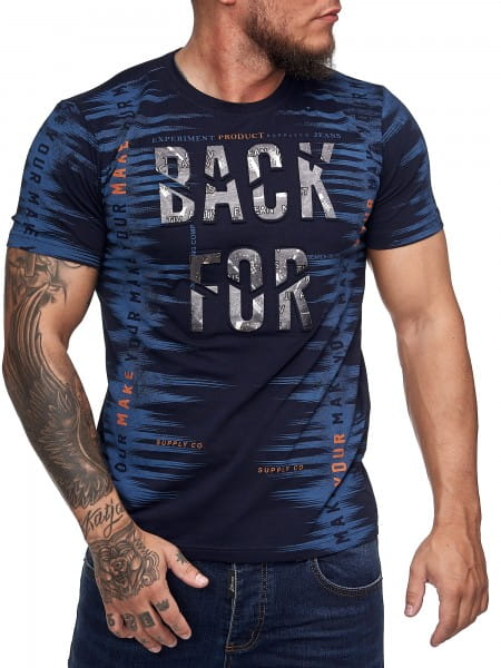 Herren T-Shirt Poloshirt Shirt Kurzarm Printshirt Polo Kurzarm 3DS5