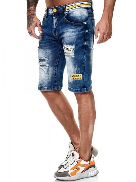 Herren Shorts Bermuda Jeansshorts Destroyed Wash Clubwear Modell E7507