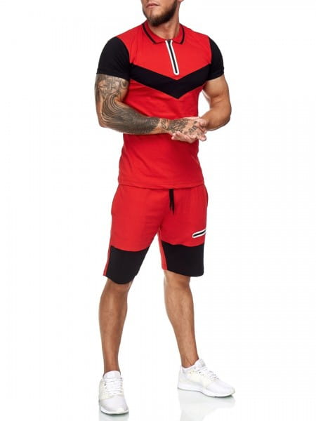 Herren Short-Anzug Jogginganzug Sport Set Traingsanzug Fitness 12115C1W