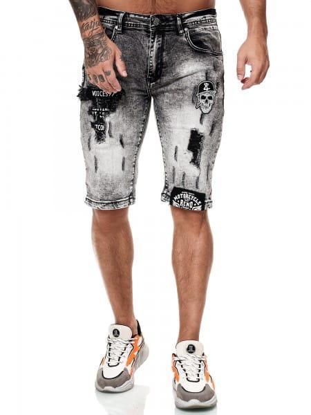Herren Shorts Bermuda Jeansshorts Destroyed Wash Clubwear Modell E7527