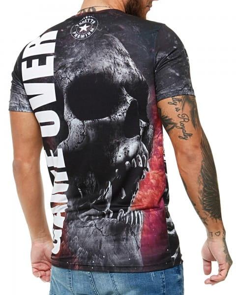 Herren T-Shirt Kurzarm Rundhals Game Over Modell 1474