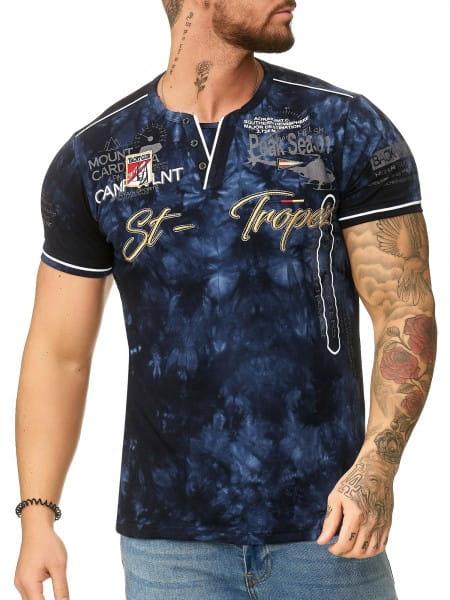 Heren T-Shirt Polo Shirt Korte mouw Printshirt Polo Korte mouw 3394c