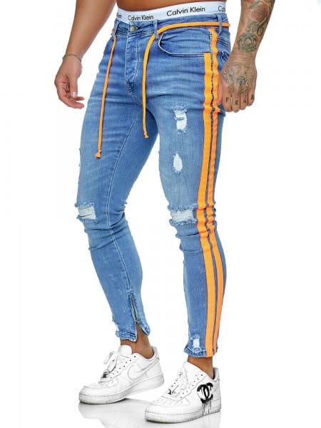 Hommes Jeans Pantalon Jeans Slim Fit Hommes Skinny Denim Designer Jeans j-8003-bo1