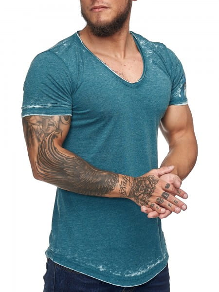 T-Shirt homme T-Shirt Poloshirt Polo manches courtes imprimé Polo manches courtes kodi1376c
