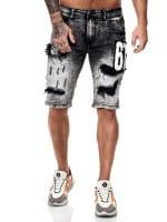 Herren Shorts Bermuda Jeansshorts Destroyed Wash Clubwear Modell E7515