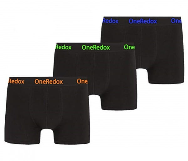 OneRedox boxer shorts boxeur hommes hommes 3 pack sous-vêtements sous-vêtements hommes retro shorts