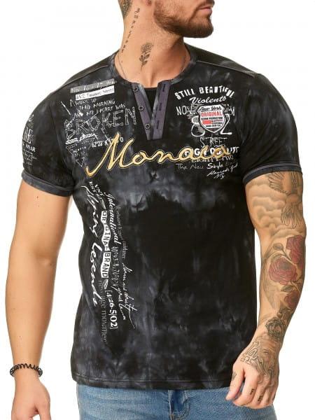 Heren T-Shirt Polo Shirt Korte mouw Printshirt Polo Korte mouw 3396c