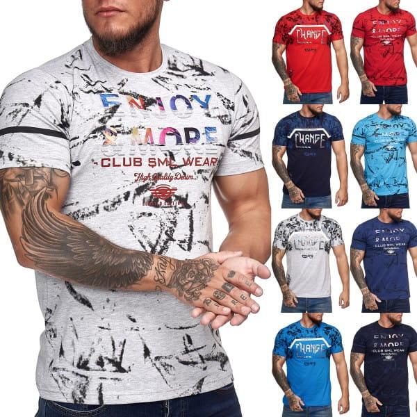 Heren T-Shirt Polo Shirt Korte mouw Printshirt Polo Korte mouw 3ds6