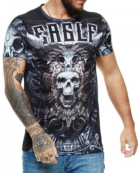 Herren T-Shirt Kurzarm Rundhals Eagle Modell 1481