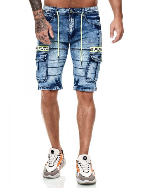 Herren Shorts Bermuda Jeansshorts Destroyed Wash Clubwear Modell E7501