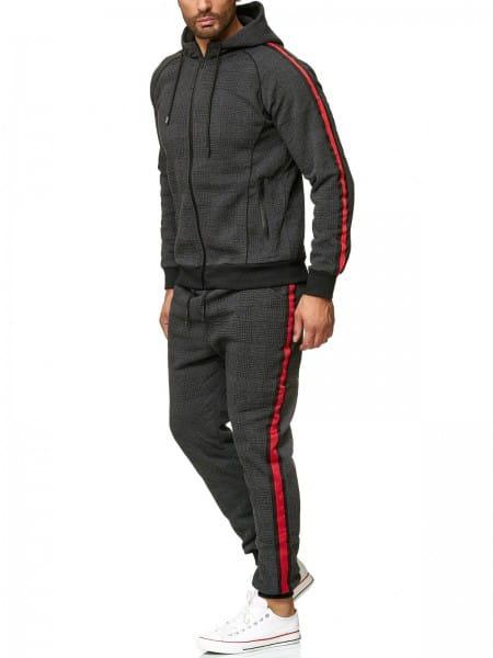 OneRedox Costume de jogging pour homme en costume de sport modèle 1098