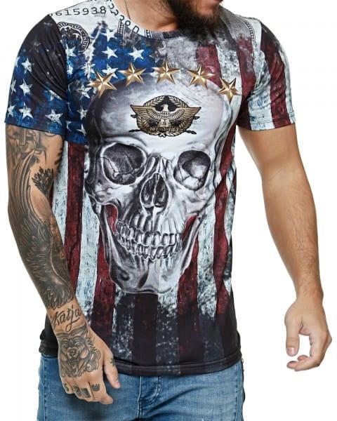 Herren T-Shirt Kurzarm Rundhals In God We Trust Modell 1475