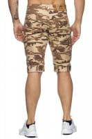 OneRedox Hommes Bermuda Shorts Bermuda Shorts Hommes Sport Shorts Casual Shorts Short Pantalon court Pantalon Cargo Pantalon Cargo 4045 Camouflage Beige