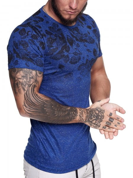 Heren T-Shirt korte mouw brede hals overmaat Tee Model 1468