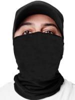 OneRedox Gesichtsschutz Halstuch Black Uni Biker Schal Ski Motorrad Gesichtsmaske