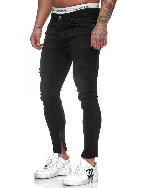 Herren Jeans Hose Slim Fit Männer Skinny Denim Designerjeans J-8002