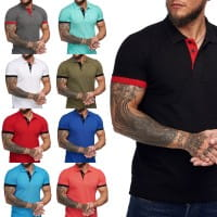 T-Shirt homme Polo Chemise Polo Manches courtes Printshirt Polo Manches courtes Manches courtes 1402c1