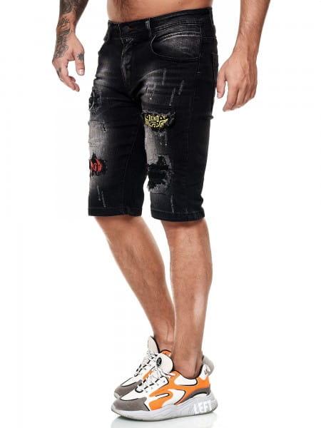 Herren Shorts Bermuda Jeansshorts Destroyed Wash Clubwear Modell E7517